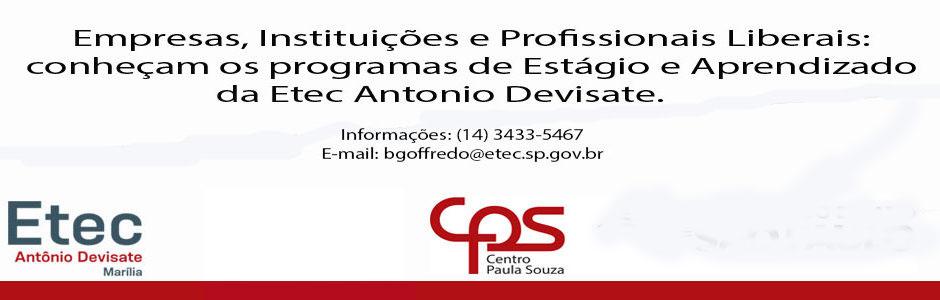 PROGRAMA DE ESTÁGIOS ETEC ANTONIO DEVISATE