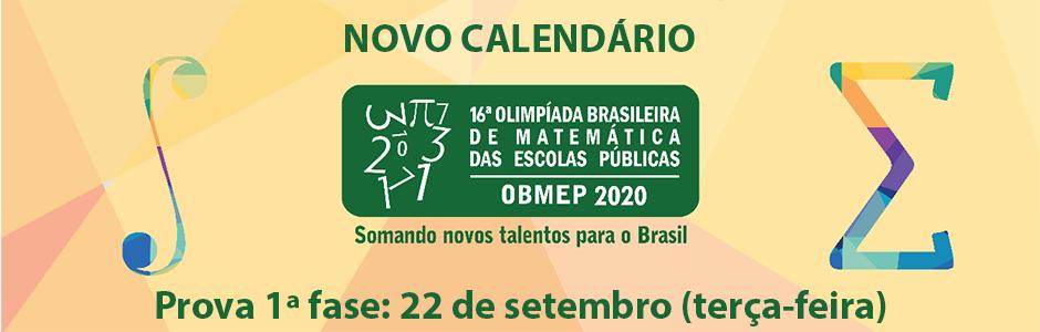 Novo calendário OBMEP 2020