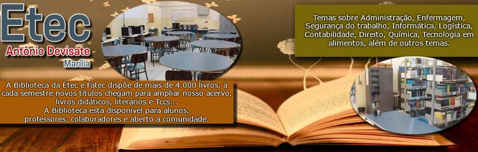 """BIBLIOTECA"" – Etec A. Devisate"